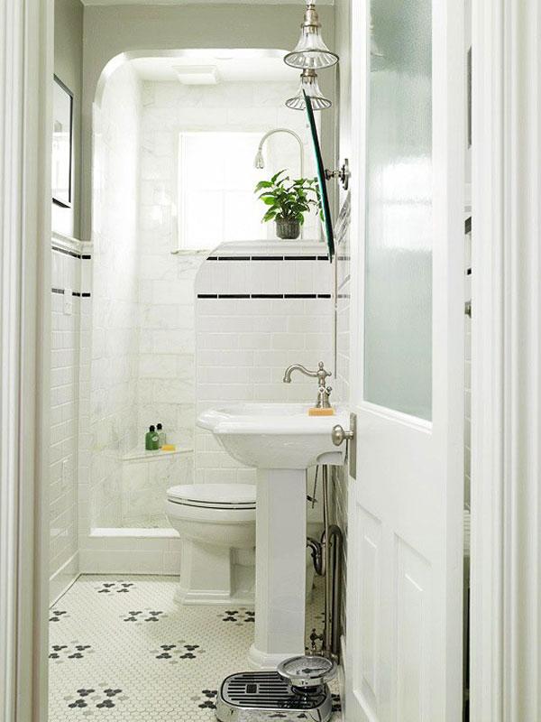 cuartos de baño pequeños blanco sutil moderno