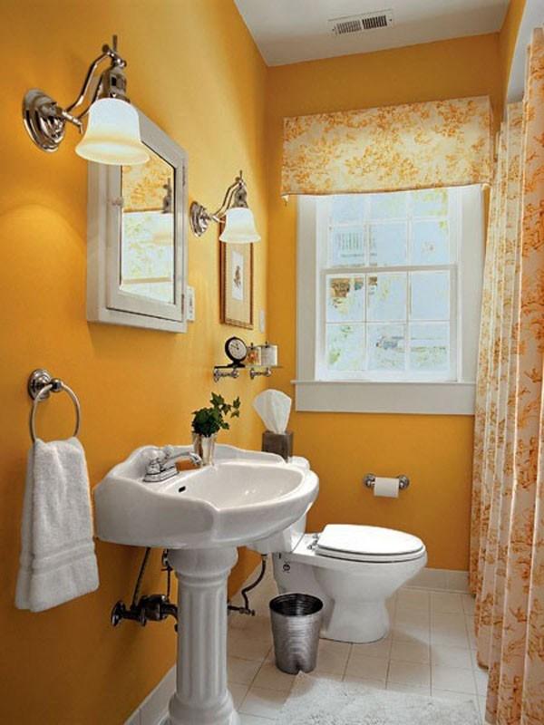 cuartos de baño pequeños clor amarillo innovadora