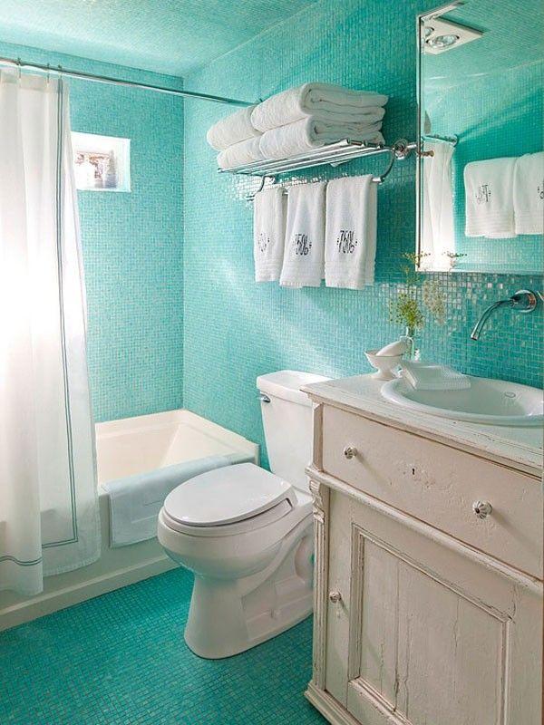 Decoracion Baño Tropical:Cuartos de baño pequeños: empieza el día con una sonrisa