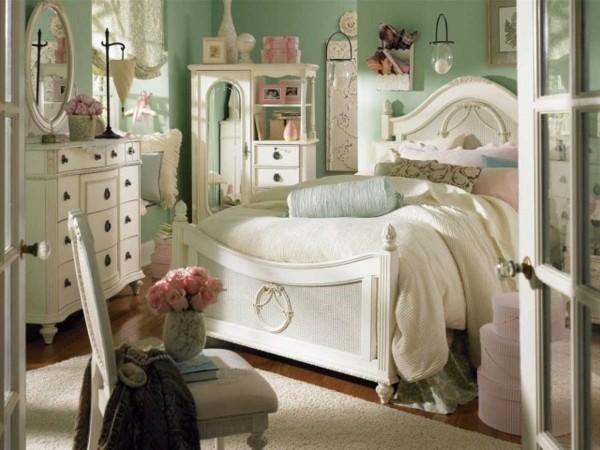 estilo dormitorio verde jade