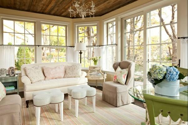 muebles beige terraza cubierta
