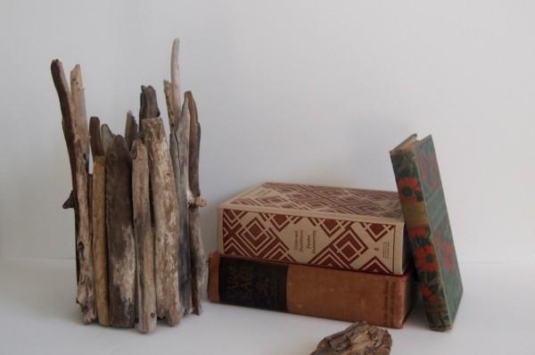 adornos palos de madera desiguales
