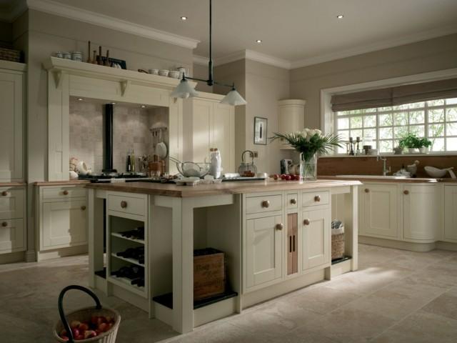 agradable cocina moderno estilo retro colores blancos