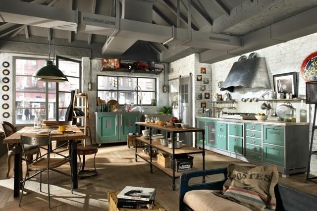 amplia espaciosa luminosa epoca cocina interesante retro