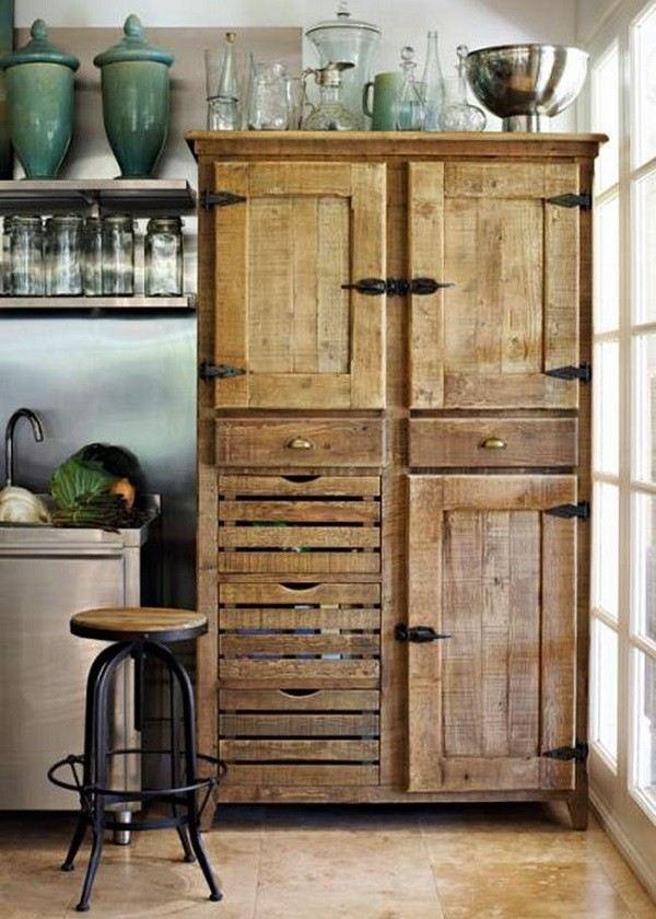 armario cocina muebles palet rústico