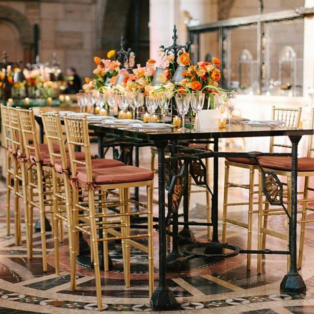 arreglos florales mesa alta bar