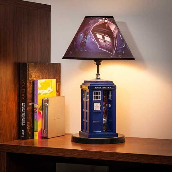 azul lampara mesa iluminacion