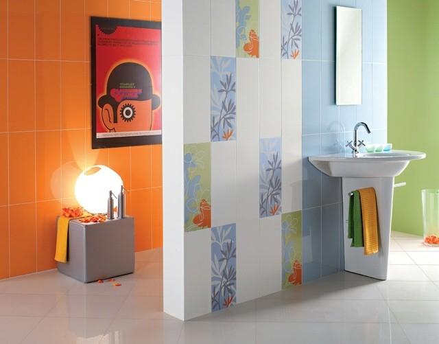 azulejos baños textura flores cuadro colores