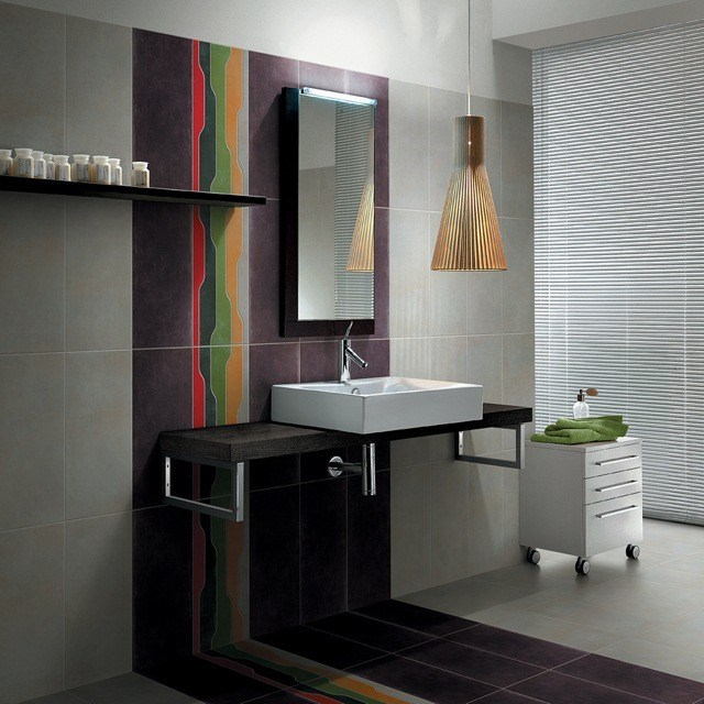 azulejos para baos colorido moderno lampara