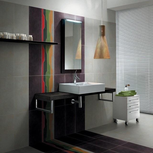azulejos para baños colorido moderno lampara