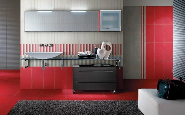 Baños Con Azulejos Rojos:Azulejos para baños modernos, 50 ideas increíbles