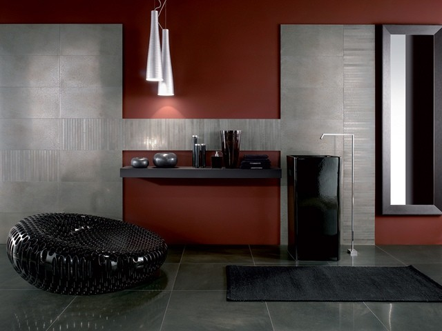 Baño De Color Rojo Intenso Mercadona:Azulejos para baños modernos, 50 ideas increíbles