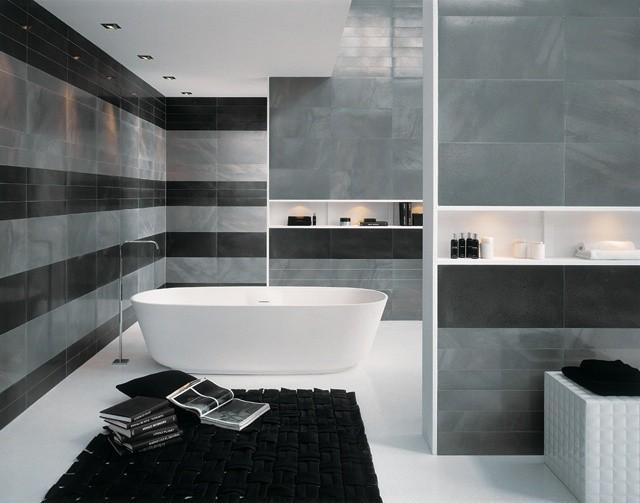 Decoracion Baños Azulejos Grises:Azulejos para baños modernos, 50 ideas increíbles