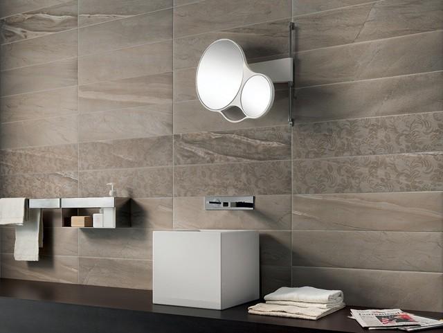 azulejos para baños moderno diseño espejo