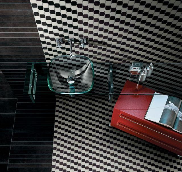 azulejos para baños mozaico mueble cristal