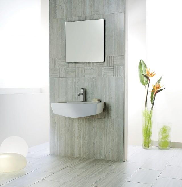 azulejos para baños paredes ceramica espejo plantas