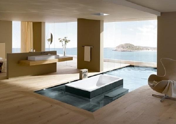 bañera luminaias decoracion modernos muebles