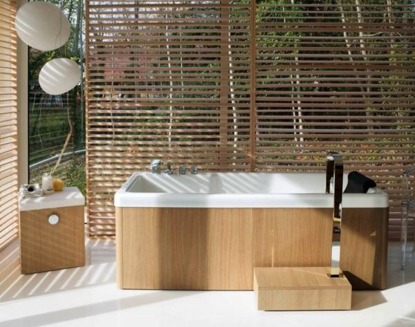 baño esterior laminado madera persianas