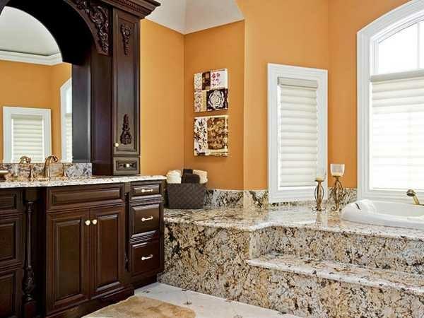 baño mármol madera decoración