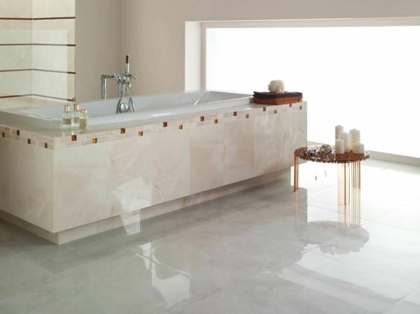 baño marmol pulido blanco brillante
