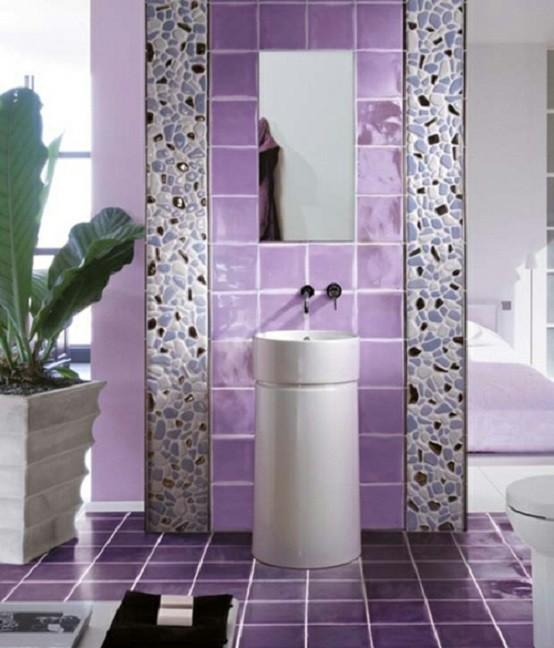 baños modernos contenedor planta rocas