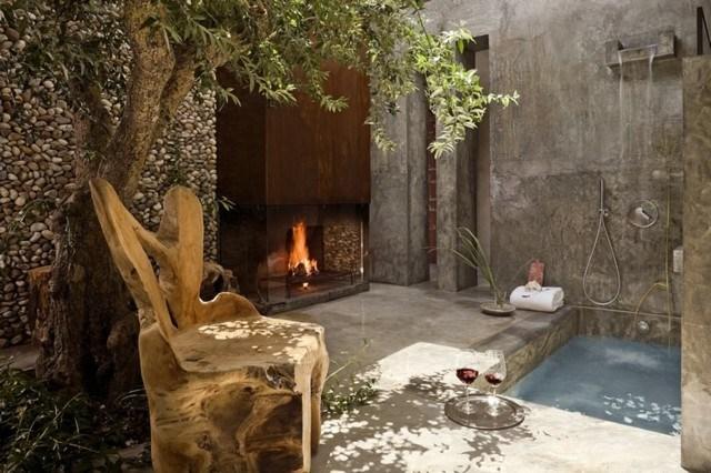 Baños Con Jacuzzi Sencillos:Muebles de baño en el jardín: tu propio spa en casa