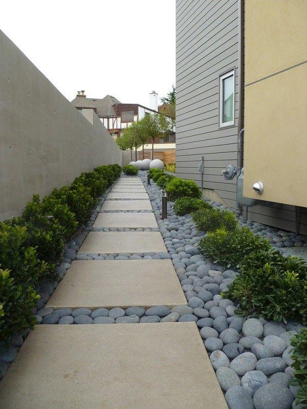 baldosas modernas jardín minimalista grandes