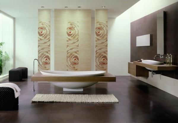 baldosas suelo baño marron lisas