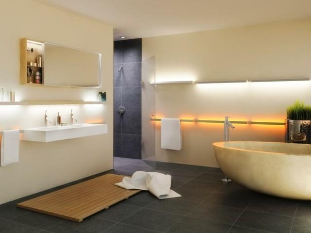baño iluminacion led espacioso interesante bonito