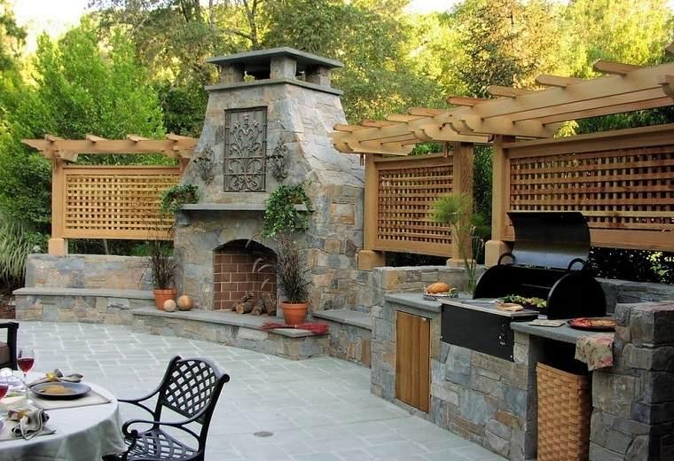 Barbacoas de obra y cocinas exteriores for Barbacoas para jardin