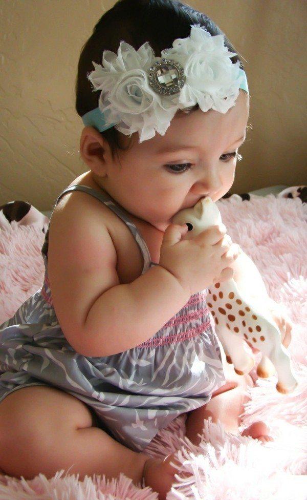 bebe niña linda diadema