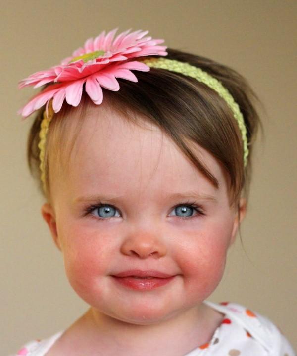 bella bebe diadema flor rosa