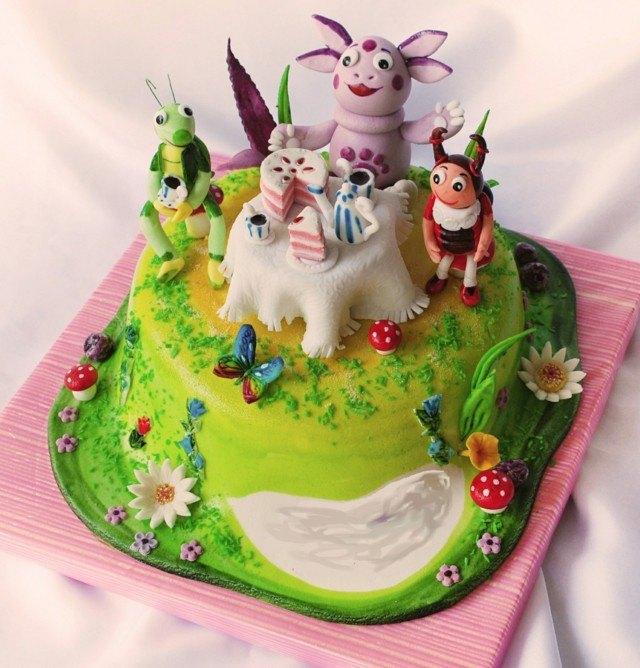 bosque animales fiesta tartas mesa pastel