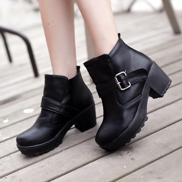 botines negros bonitos modernos