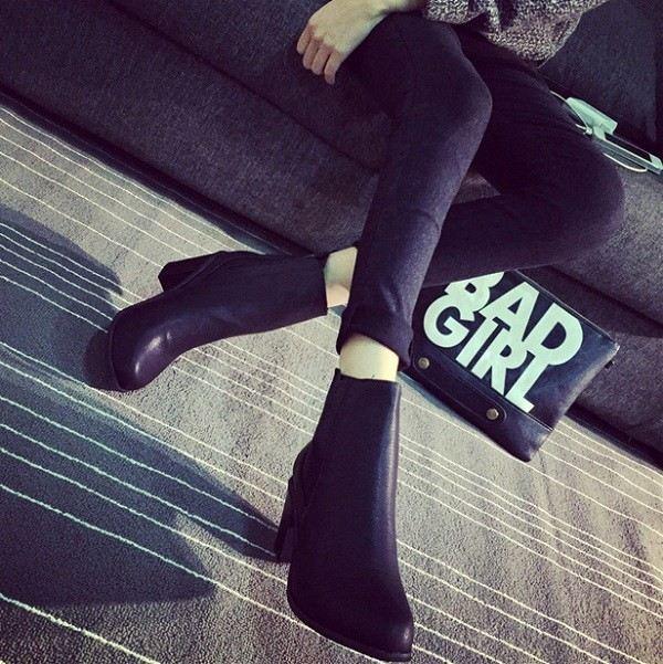 botas clásicos color negro