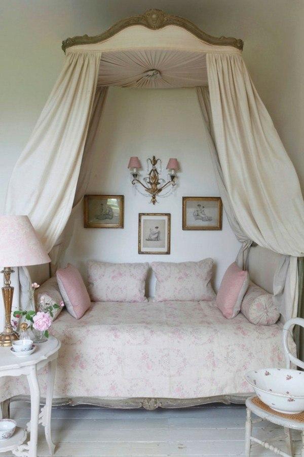 cama mosquitera adorable rosa cojines