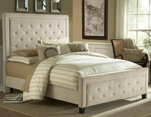 shaby chic cama amplia confortable estilo blanco cuero