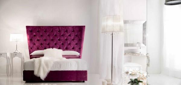 cama cabecero capitoné rosa terciopelo