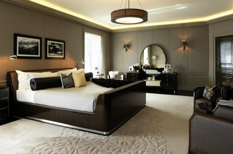 cama grande cuarto diseño lujoso