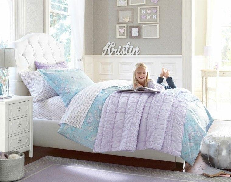 cama grande cuarto niña blanco