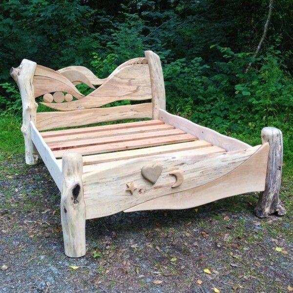cama madera de deriva cabecero