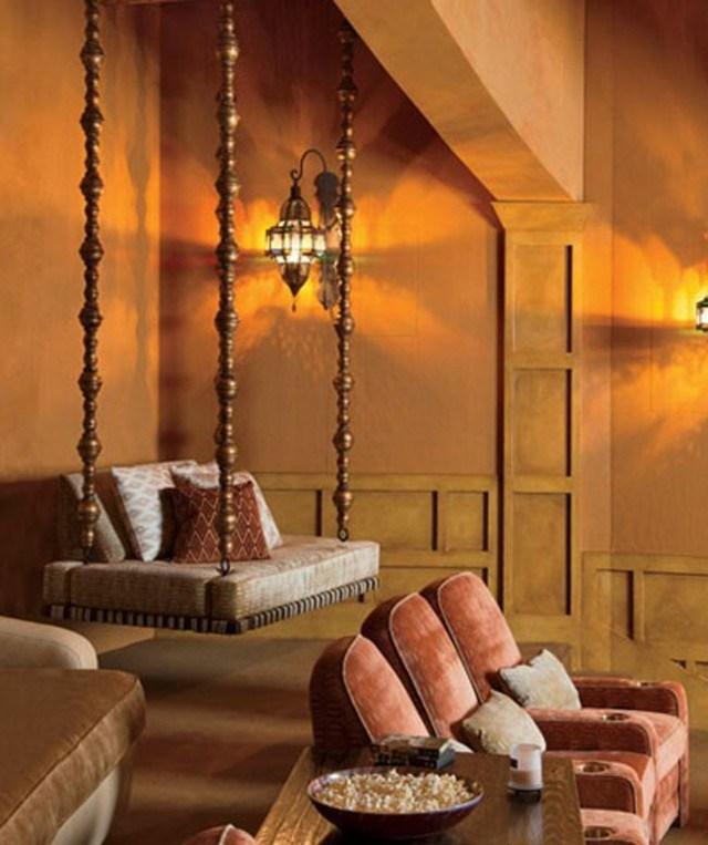 cama sillon colgante arabe madera