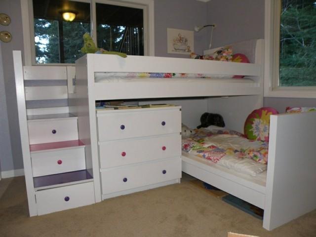 Literas infantiles ideas divertidas para los ni241os : camas blancas armarios chicas idea bonita from casaydiseno.com size 640 x 480 jpeg 54kB