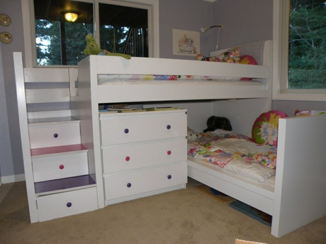 camas blancas armarios chicas modernas idea bonita
