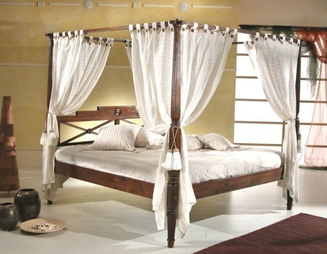camas dosel blanco madeta ideas moderno dormitorio