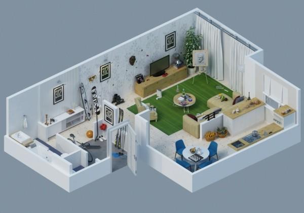 planos de casas y apartamentos