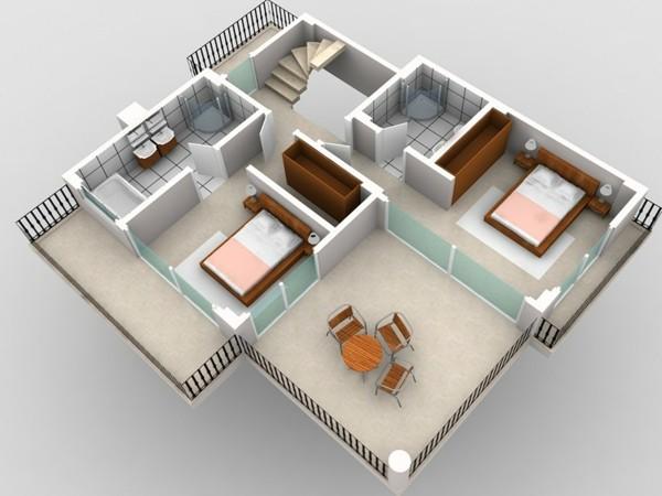casa plano diseño minimalista moderno