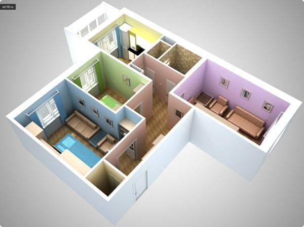 En su apartamento 03 - 4 6