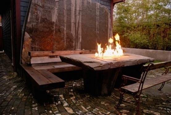 cascadas para jardín combinada  muebles  madera metal