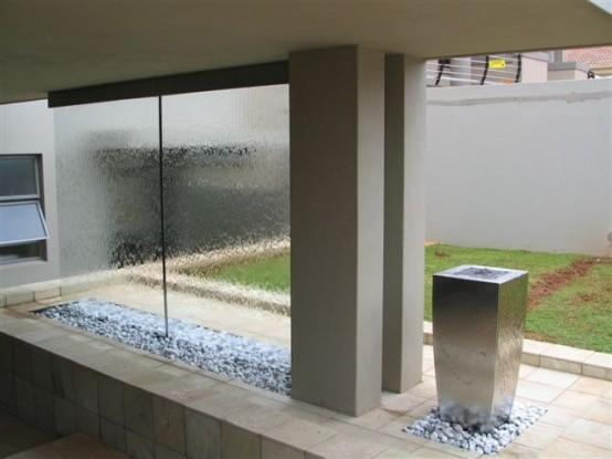 cascada para jardin pared divisoria